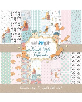COLECCION 12 PAPELES SCRAP SCANDI STYLE