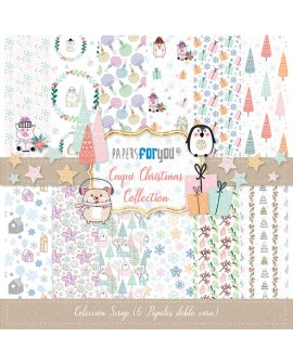 COLECCION 6 PAPELES SCRAP CUQUI CHRISTMAS