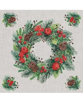 SERVILLETAS Wreath On Linen