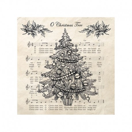 SERVILLETAS O Christmas Tree Black