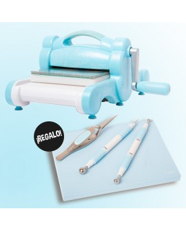 SIZZIX BIG SHOT SKY BLUE + SHAPE & STYLE KIT DE REGALO (EDICIÓN LIMITADA)