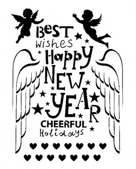 Stencil Cadence HAPPY NEW YEAR 21x30 cm