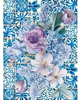 Papel de Arroz COLLAGE FLORES 3