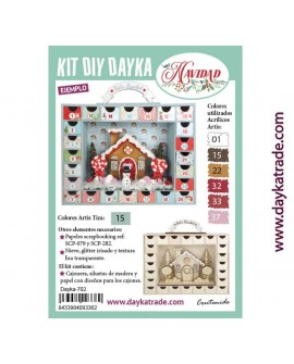 KIT DIY DAYKA CALENDARIO DE ADVIENTO MALETA CON HUECO