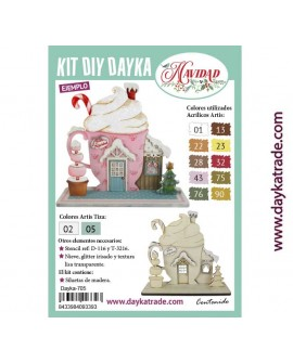 KIT DIY DAYKA TAZA NAVIDEÑA CASITA
