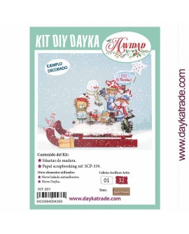 KIT DIY DAYKA TRINEO CON ANIMALES
