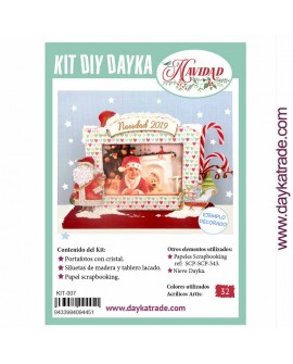 KIT DIY DAYKA PORTAFOTOS PAPÁ NOEL