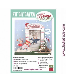 KIT DIY DAYKA PORTAFOTOS NIÑOS PATINADORES