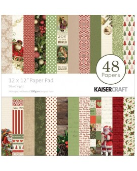 "Kaisercraft Silent Night 12 ""x12"" Christmas Paper Pad - 48 hojas"