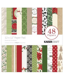 Kaisercraft - Colección Home for Christmas - 12 x 12 Paper Pad