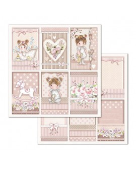 Papel Scrap LITTLE GIRL SBB679 STAMPERIA