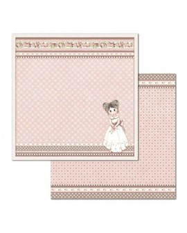 Papel Scrap LITTLE GIRL SBB682 STAMPERIA