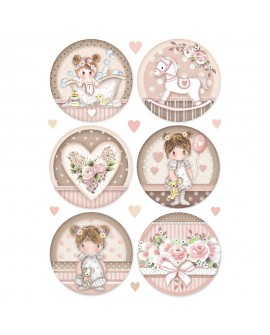 Papel de arroz A4 LITTLE GIRL DFSA4451 STAMPERIA