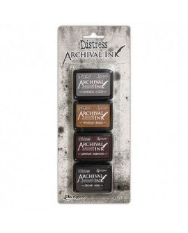 Set 4 Tintas DISTRESS ARCHIVAL INK TIM HOLTZ ARC64848