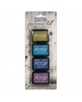 Set 4 Tintas DISTRESS ARCHIVAL INK TIM HOLTZ ARC64862