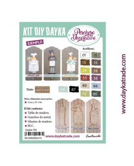 KIT DIY DAYKA TABLA PERCHERO COCINEROS