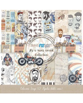 COLECCIÓN SCRAP PAPERS FOR YOU 12 PAPELES IT´S A MAN´S WORLD