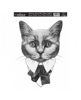 Transfer TELA Cadence Animal Portrait 25x35 cm Gato