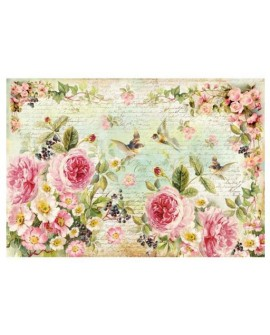 Papel de Arroz 48x33 English Roses