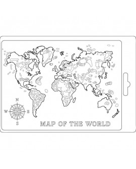 MOLDE FLEXIBLE Stamperia A5 Map of the world