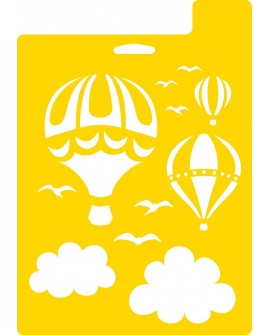 STENCIL Hot Air Balloons