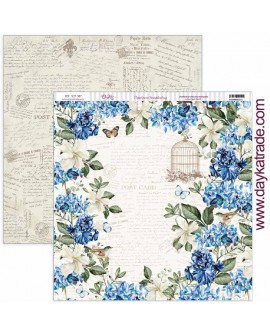 "SCP-387 Papel scrap colección ""Nature in blue"""