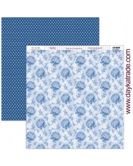 "SCP-390 Papel scrap colección ""Nature in blue"""