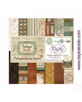 KIT SCRAPBOOKING DAYKA TRADE «ANTIQUE STYLE» Dayka 8×8 pulgadas