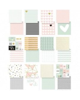 """Vaessen Creative Love It cardstock 12x12"""" 2x12 sheets double sided"""