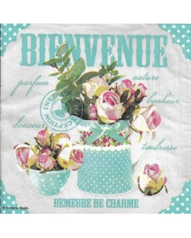 Servilletas decoupage Bienvenue