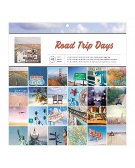 "American crafts paper pads 12x12"" x48 road trip days"
