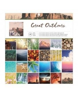 "American crafts paper pads 12x12"" x48 great outdoors"