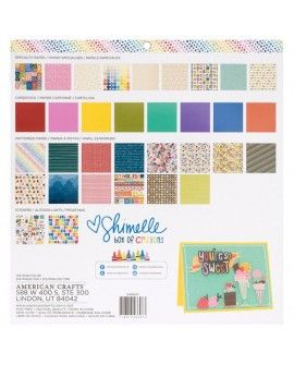 """Shimelle paper pad Box of Crayons 12x12"""" x33"""