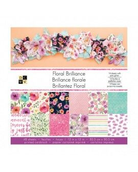 American Crafts DCWV 30,5x30,5cm x48 floral brilliance
