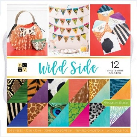 American Crafts DCWV 30,5x30,5cm x24 gold foil wild side