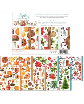 Set Scrapbooking Flora Book 3 Mintay by Karola 15x20 cm