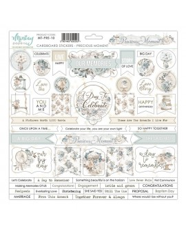 Chipboard Stickers 12x12 pulgadas de Mintay by Karola - Precious Moment