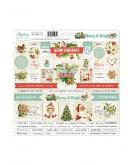 Chipboard Stickers 12x12 pulgadas de Mintay by Karola - Merry and Bright