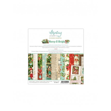 Set Scrapbooking MERRY AND BRIGHT Mintay by Karola 15x15 cm