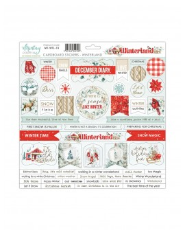 Chipboard Stickers 12x12 pulgadas de Mintay by Karola - Winterland