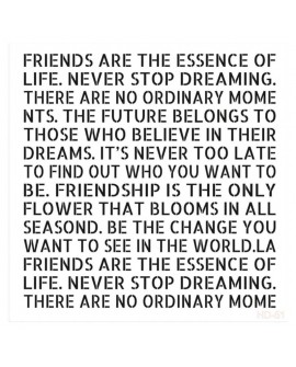Stencil FRIENDS ARE THE ESSENCE 25x25 cm CADENCE