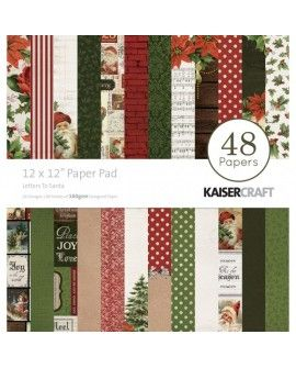 "Kaisercraft paper pad 12x12"" Letters to santa"