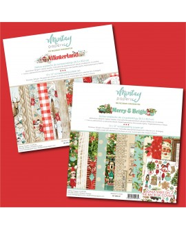 Pack 2 colecciones scrap Mintay MERRY & BRIGHT + WINTERLAND
