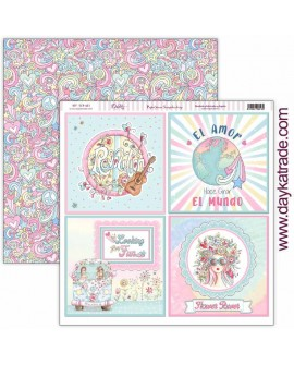 Papel scrapbooking «Be Happy» Dayka Trade SCP-403