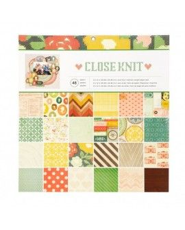American craft paper pad 30,5x30,5cm x48 close knit
