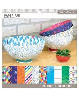 "K&Company paper pad 12x12"" x28 double side trend"