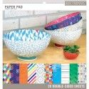 """K&Company paper pad 12x12"""" x28 double side trend"""