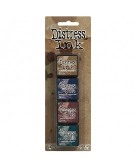 Set 4 Tintas DISTRESS ARCHIVAL INK TIM HOLTZ 40422