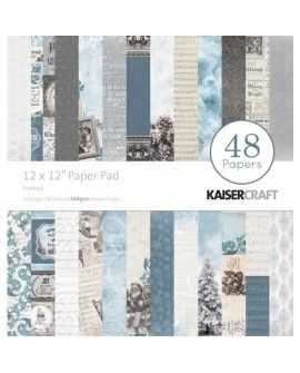 "Kaisercraft paper pad 12x12"" frosted"