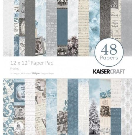 """Kaisercraft paper pad 12x12"""" frosted"""